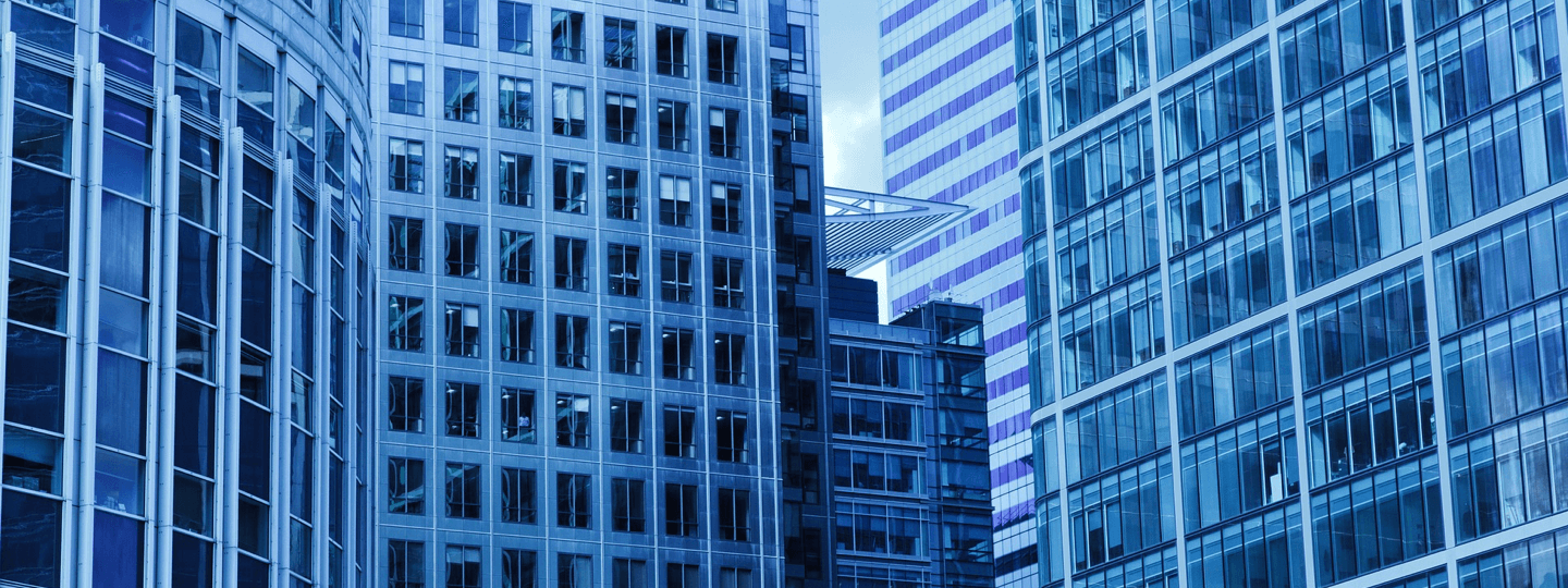 Facades of multiple high rise buildings