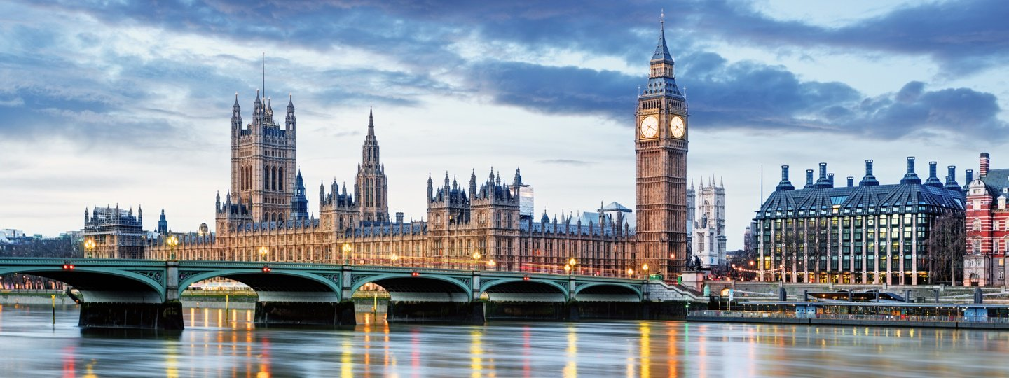 Big Ben and the Palace of Westminster in London, England