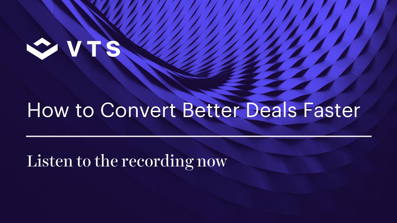 How to Convert Better Deals Faster CRE Webinar