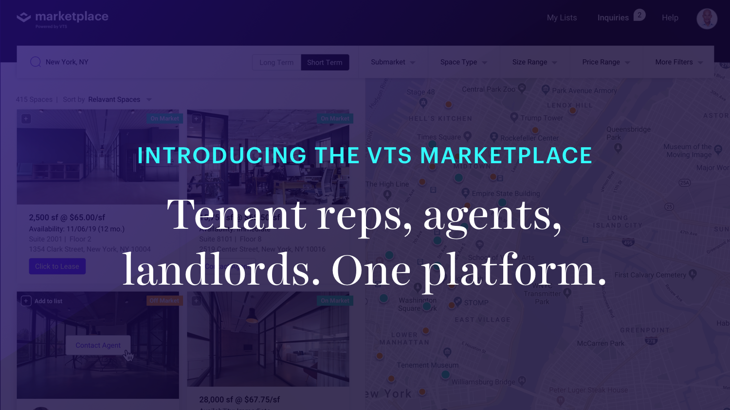 Introducing the VTS marketplace commercial real estate's first end-to-end transaction platform for landlords, tenants and brokers