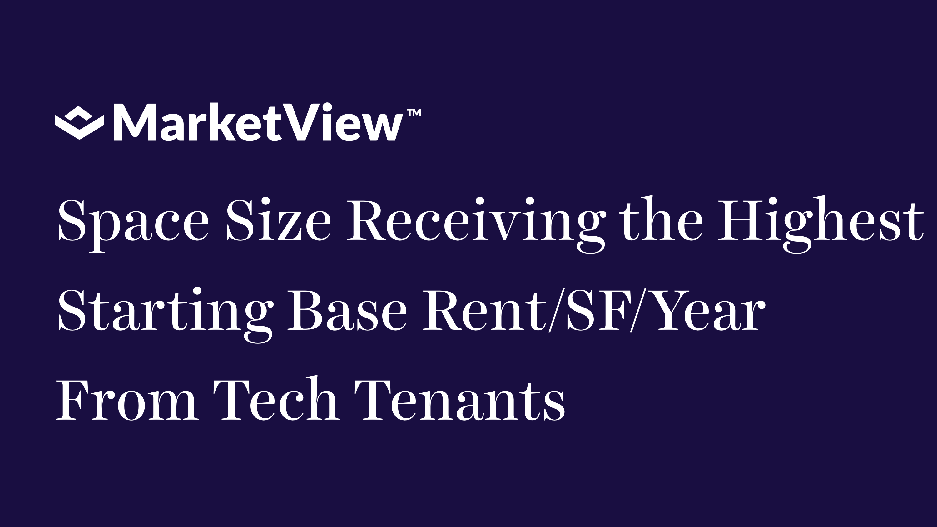VTS MarketView Benchmark-Space Sizes Receiving Highest Base Rent/Year by Technology Tenants in US and UK