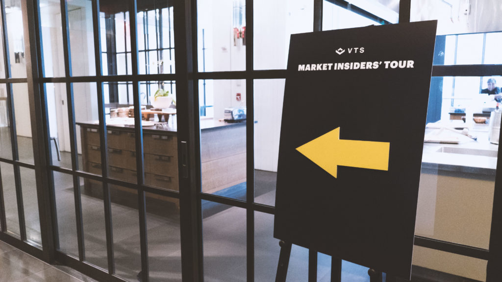 A sign for the VTS Market Insider's Tour