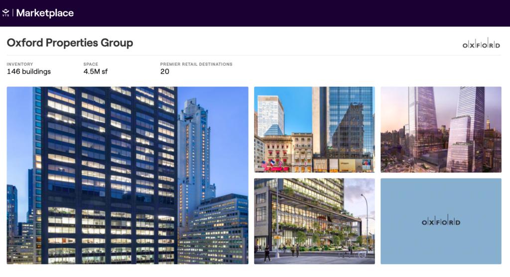 Photo: Oxford Properties Group's portfolio page.